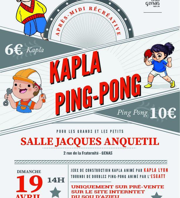 Après-midi Ping-Pong / Kapla du Sou d'azieu
